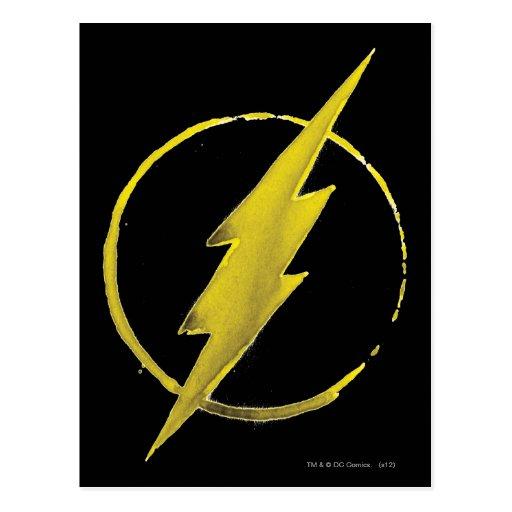 Coffee Flash Symbol - Yellow Postcards