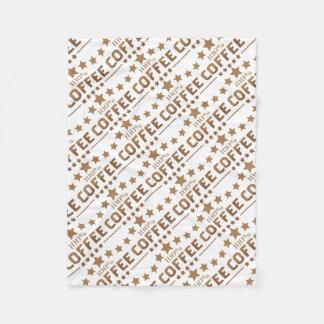 coffee fleece blanket