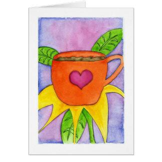 Coffee Flower Card