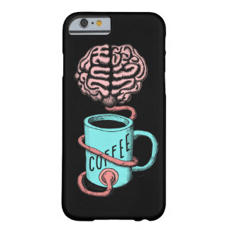 Coffee for the brain. Funny coffee illustration Barely There iPhone 6 Case
