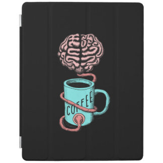 Coffee for the brain. Funny coffee illustration iPad Cover