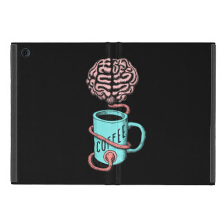 Coffee for the brain. Funny coffee illustration iPad Mini Cover