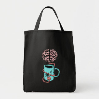 Coffee for the brain. Funny coffee illustration Tote Bag
