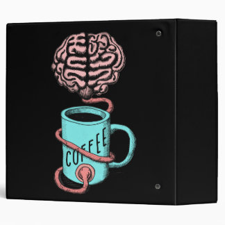 Coffee for the brain. Funny coffee illustration Vinyl Binders