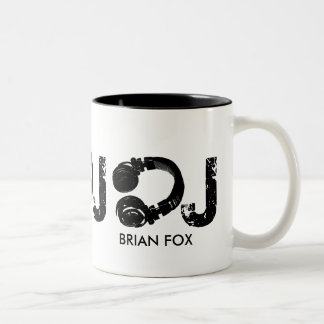 coffee for the D.J. Two-Tone Coffee Mug
