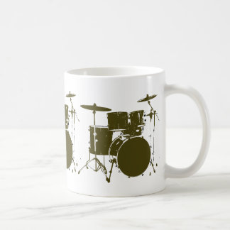 coffee for the drummer classic white coffee mug