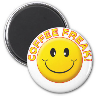 Coffee Freak Smile 2 Inch Round Magnet