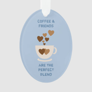 Coffee & Friends blue Ornament