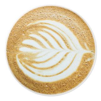 Coffee Froth Leaf Ceramic Knob