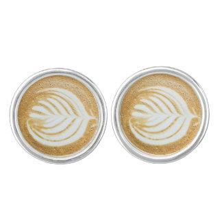 Coffee Froth Leaf Cufflinks