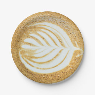 Coffee Froth Leaf Paper Plate
