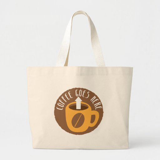 Coffee Goes here! Tote Bags