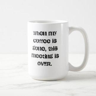 Coffee Gone, Meeting Over Mug