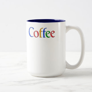 coffee - google font Two-Tone coffee mug