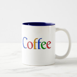 coffee (google logo) mug