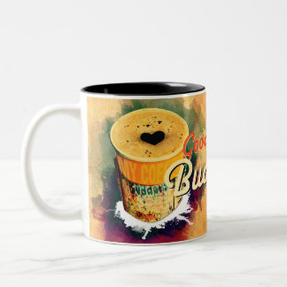 Coffee Graffitti Wrap Good Morning Budapest! Two-Tone Coffee Mug