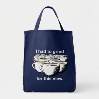 Coffee Grind For This View Tote Bag