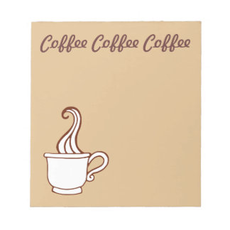 Coffee Grocery List Shopping Kitchen Notepad Gift