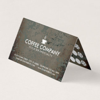 coffee grunge folded loyalty stamp card