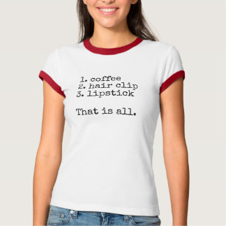 Coffee, hair clip, lipstick - Women's T-shirt