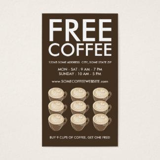 coffee heart art business card
