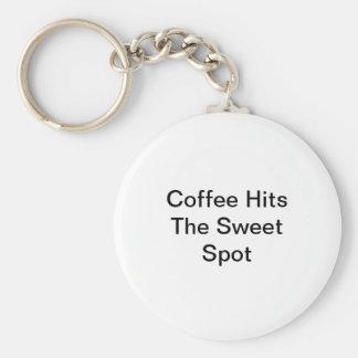 Coffee Hits The Sweet Spot Keychain