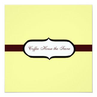 "Coffee House 5.25"" Square Invitation Card"
