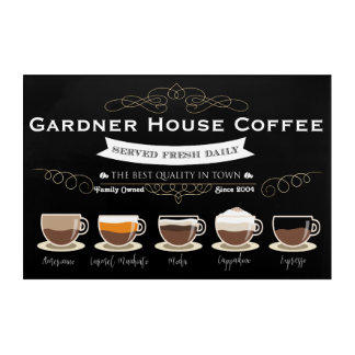 Coffee House Kitchen Wall Art - Personalized