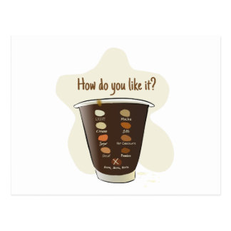 Coffee — How Do You Like It? Postcard