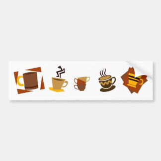 Coffee Icons Bumper Sticker