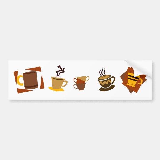 Coffee Icons Bumper Sticker