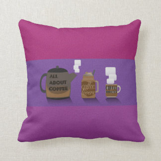 Coffee Illustration by Syahikmah Throw Pillow