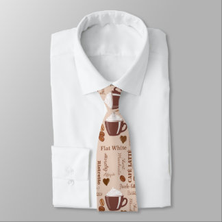 Coffee Images Pattern Tie