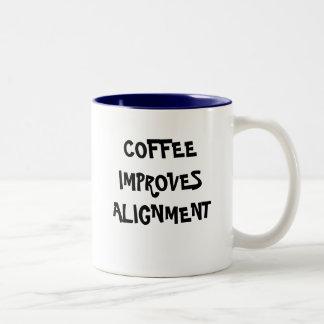 COFFEE IMPROVES ALIGNMENT COFFEE MUG