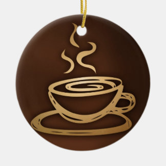Coffee In My Cup Ceramic Ornament