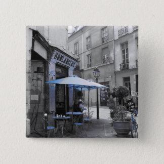 Coffee in Paris 2 Inch Square Button