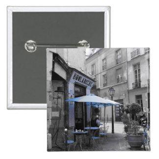Coffee in Paris 2 Inch Square Button