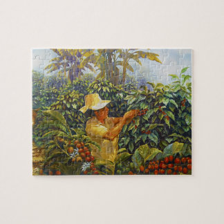 Coffee in the Park Mural by Master Henry Villada Jigsaw Puzzle