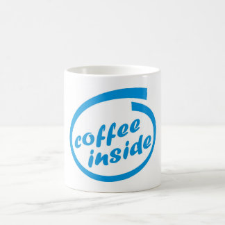 Coffee inside (cafe). Funny hot drink mug. Coffee Mug