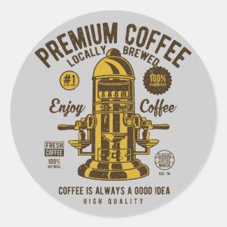 Coffee is always a good idea | Locally Brewed Classic Round Sticker