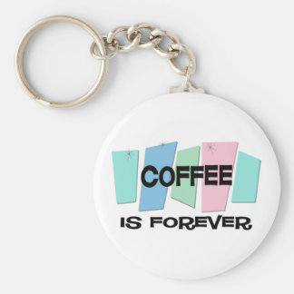 Coffee Is Forever Basic Round Button Keychain