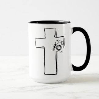 Coffee Is Jesus: Cup on a Cross Coffee Mug