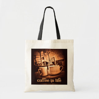 Coffee is Life Canvas Bags
