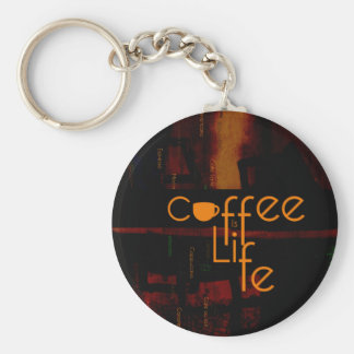 Coffee is Life Basic Round Button Keychain