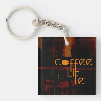 Coffee is Life Double-Sided Square Acrylic Keychain