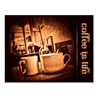Coffee is Life Postcard