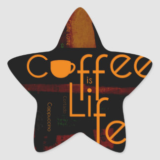 Coffee is Life Star Sticker