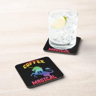 Coffee Is Magical - Funny Novelty Caffeine Unicorn Coaster