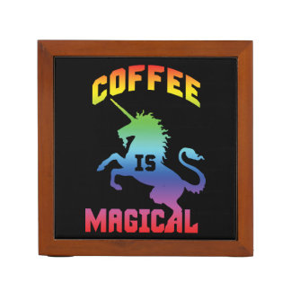 Coffee Is Magical - Funny Novelty Caffeine Unicorn Desk Organizer