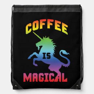 Coffee Is Magical - Funny Novelty Caffeine Unicorn Drawstring Bag